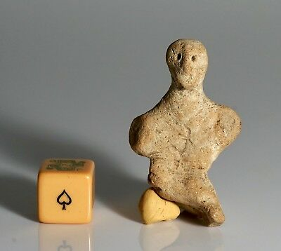 Rare Ancient Near Eastern Terracotta Figurine Idol - 3rd Millenium BC