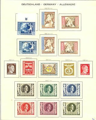 Germany -1941/1944--79 Stamps---- * Mh --Vf