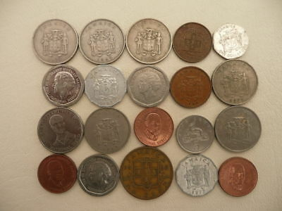 Lot of 20 Jamaica Coins