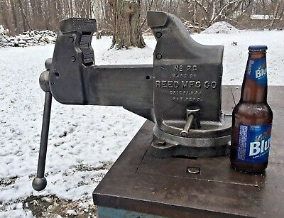 "Vintage Reed Mfg.Co.Bench Vise Swivel Base /Pipe Clamp 4 1/2"" Jaws ,Model 2C  NR"