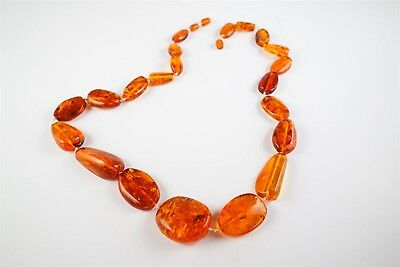 Striking Baltic Amber Large Pebble Necklace