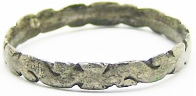 Nice Excavated 13th century Medieval Silver Knights Templar Ring Cross Pattée