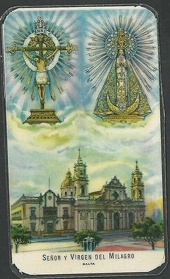Estampa antigua Virgen del Milagro andachtsbild santino holy card santini