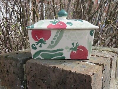 Emma Bridgewater - Red Tomato & Green Pepper butter dish 2004 - first quality