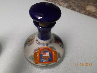 Wade British Navy Ship Decanter 50ml Empty Porcelain Pusser's Rum Decanter