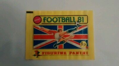 Panini Football 81,1981 Unopened Sticker Packet Excellent Condition