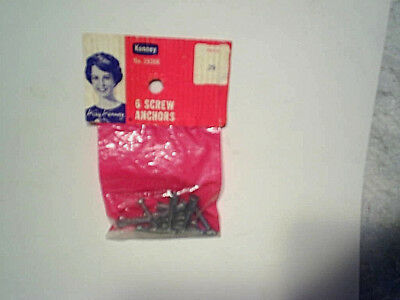 KAY KENNEY 6 SCREW ANCHORS SEALED BAG Vintage,Old,a decorating consultant,3936K