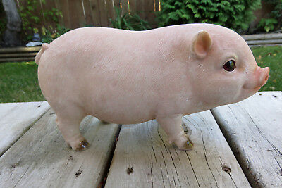 Homestead Pig Pink Standing Farm Animal Resin 10 In. X 5.5 In.  New