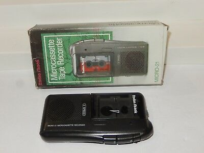 Radio Shack Micro-21 Microcassette Recorder Voice Recorder 2-Speed Black