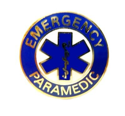 Emergency Paramedic Tie Tac Tack Blue Star of Life Uniform 63GT Gold Plated New