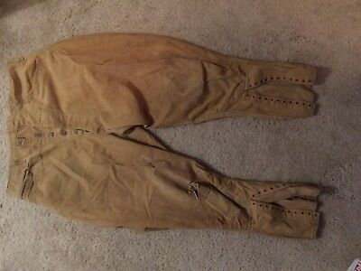 pre ww1 us elisted soldier cotton breeches, belted back, no rear pockets