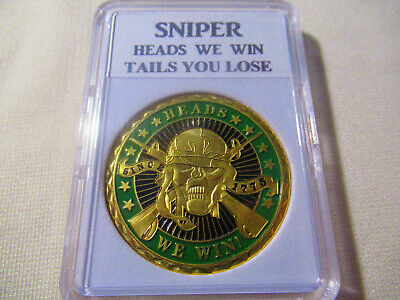 SNIPER - HEADS WE WIN TAILS YOU LOSE - Challenge Coin