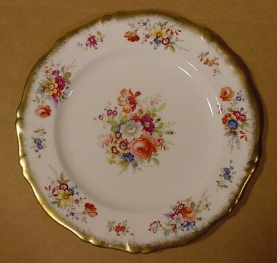 """Hammersley Lady Patricia Heavy Gold Signed F Howard 10 5/8"""" Dinner Plate"""