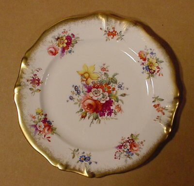 "Hammersley Lady Patricia Heavy Gold Signed F Howard 8"" Lunch or Salad Plate"