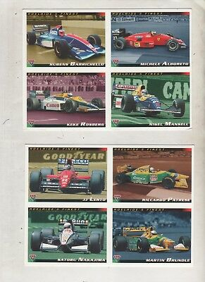 Adelaide GP 1994 Promotion cards Uncut Futera Hill Mansel Rosberg Lauder Prost P