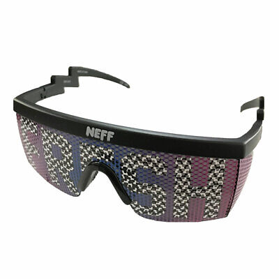 f2c80f1999 Neff Men s Brodie Fresh Checker Shades Sunglasses Black Beach Summer Skate  Snow