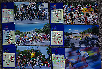 Tour Down Under Road Bike Race Adelaide 2000 6 post cards Jacob's Creek NEW