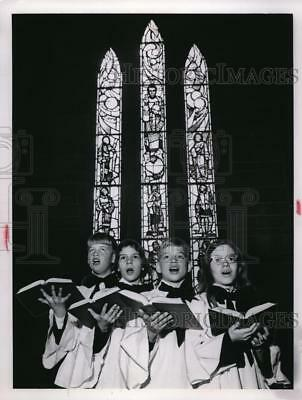 1967 Press Photo St. Paul's Jr. Choir, J. Krieger, A. Bidwell, S. Bryan, Loomis