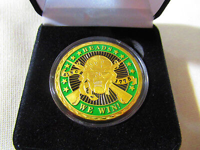 SNIPER - HEADS WE WIN TAILS YOU LOSE - Challenge Coin w/ Presentation Box