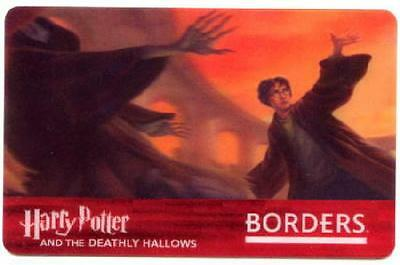 Harry Potter And The Deathly Hallows ~ Borders Lenticular Collectible Gift Card!
