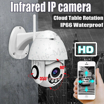 Wireless Outdoor HD 1080P 2MP PTZ WIFI IP IR Camera Night Vision Home Security