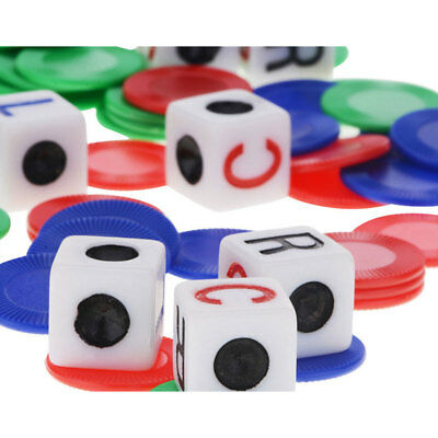 LCR cube family fast paced dice game description 4 color chip English version