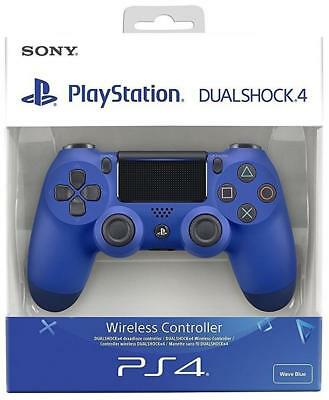 Sony PS4 DualShock 4 V2 Wave Blue Wireless Controller New