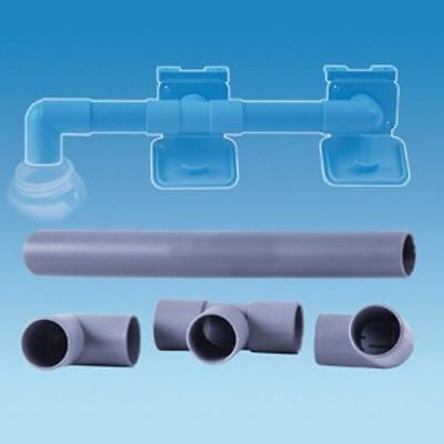 28mm Waste Water Pipe Outlet Hose Easy Drain Away Connection Kit - Caravan