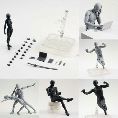 Drawing Figures for Artist Action Figure Model Human Mannequin Man Woman Kits RS