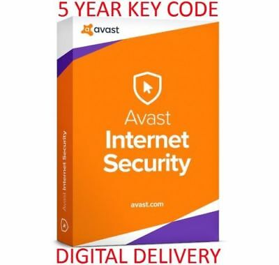 Avast Internet Security 2019 | Genuine License Key | 5 Years | 3 PC