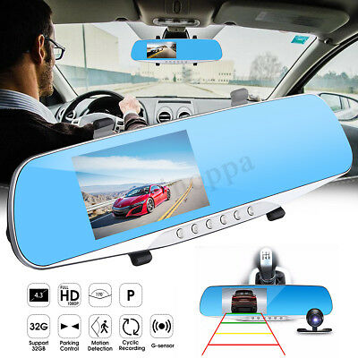 Backup Camera Mirror Car Auto Rear View Reverse Night Vision Parking System Kit