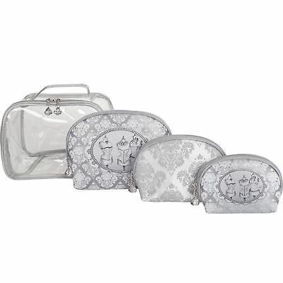 Mathilde M Travel Cosmetic Toiletry Bag & 3 Pouch Boudoir Make Up Bags Gift Set