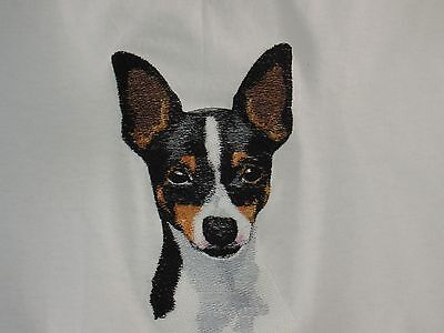 Embroidered Long-Sleeved T-Shirt - Toy Fox Terrier BT4539  Sizes S - XXL