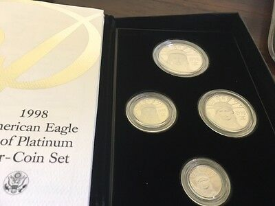 1998 -W Proof Platinum American Eagle 4 Coin Set - with Box and Certificate