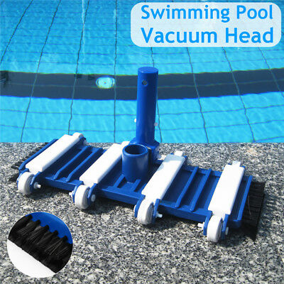 Swimming Pool Vacuum Head Cleaning Brush Tool For Aquarium Fish Pond Water Parks