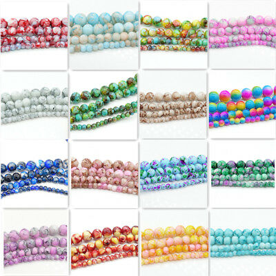 Bulk wholesale Charms Round Glass Loose Spacer Beads Findings 4mm/6mm/8mm/10mm