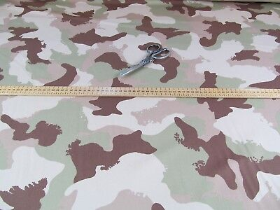 Hungarian 4 Color Army Military Desert Camouflage Uniform Fabric Material Cloth