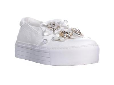 76a3c42cc6ec Kenneth Cole Reaction Women s Cheer Floral Platform Sneakers White Size 8.5  M US