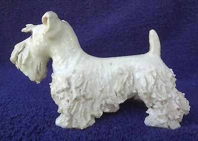 SEALYHAM TERRIER DOG Vintage Spaghetti Hand Crafted Statue Unusual Rare & HTF