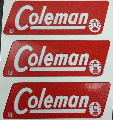Three (3) New Coleman Replacement Sticker Label Decal Lantern Stove 1962-1964