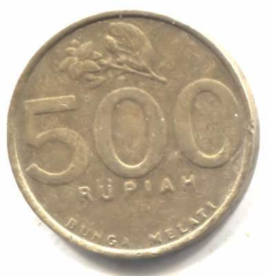 Indonesia 2003 Five Hundred Rupiah Coin - Bank Indonesia - 500 Rupiah
