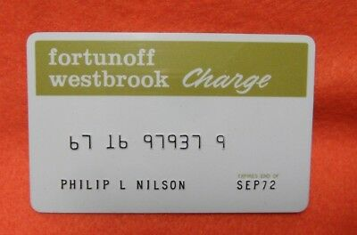 VINTAGE FORTUNOFF Westbrook Charge Card