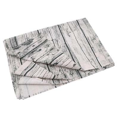 Wooden Printed Tablecloth Cover Rectangular Waterproof Table Linen H