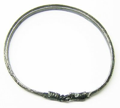 Nice 10th - 11th century Excavated Scandinavian Viking Silver Oath Ring Bracelet