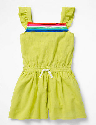 Mini Boden Girl's 'Strappy Woven Playsuit' Shorts Romper~5-6~Yellow~NWT $45