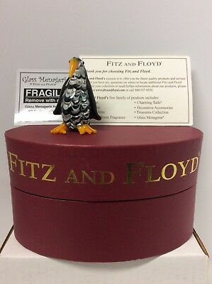 Fitz And Floyd Glass Menagerie Penguin With Box