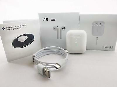 i10 TWS Bluetooth Earphones Stereo Wireless Charging Earbuds Bluetooth 5.0 1:1