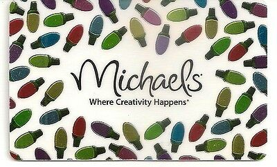 Michaels Crafts Christmas Lights Bulbs Foil Holiday 2012 Gift Card Collectible