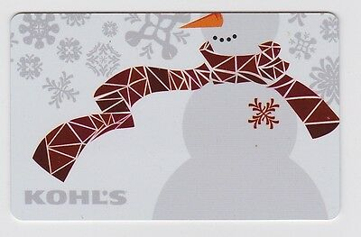 Kohl's Snowman Scarf Snowflakes Foiled Holiday Winter Gift Card Collectible