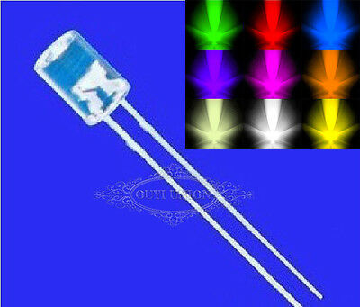3MM 5MM Flat Top Water Clear Superbright LED Lamp Emitting Diode 50PCS~1000PCS